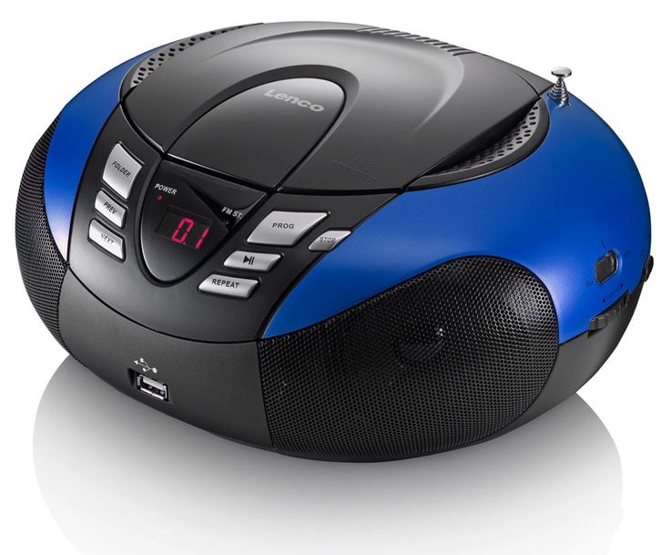 Portable CD Player FM/MF Radio Tuner MP3 WMA USB LED Display Lenco SCD-37 USB BLUE – Bild 3