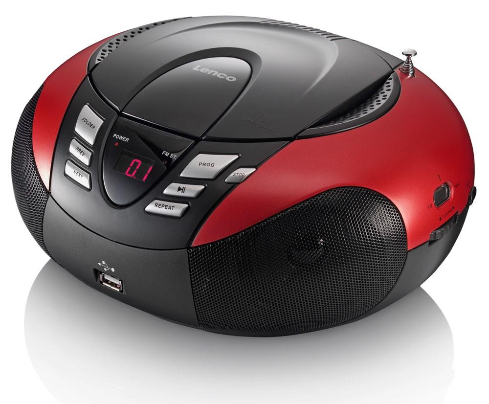 Tragbarer CD/MP3-Player Tuner LED Display in rot SCD-37 – Bild 3