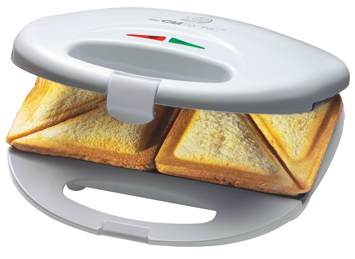 Sandwichtoaster Sandwichmaker Sandwich Toaster toasten Clatronic ST 3274 weiss – Bild 3