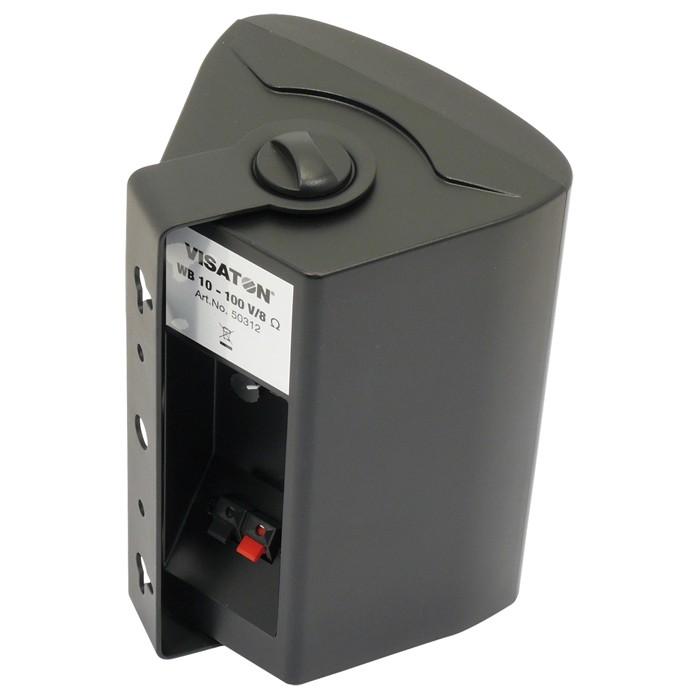 VISATON 2-Wege Kompaktlautsprecher Boxen Lautsprecher Outdoor 100V/8Ohm schwarz VS-WB10B – Bild 2