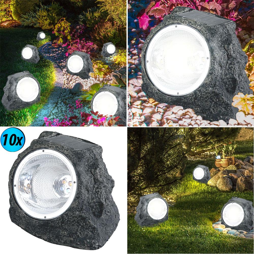 Solar-Gartenstrahler mit strahlendem Licht 10er Set – Bild 2
