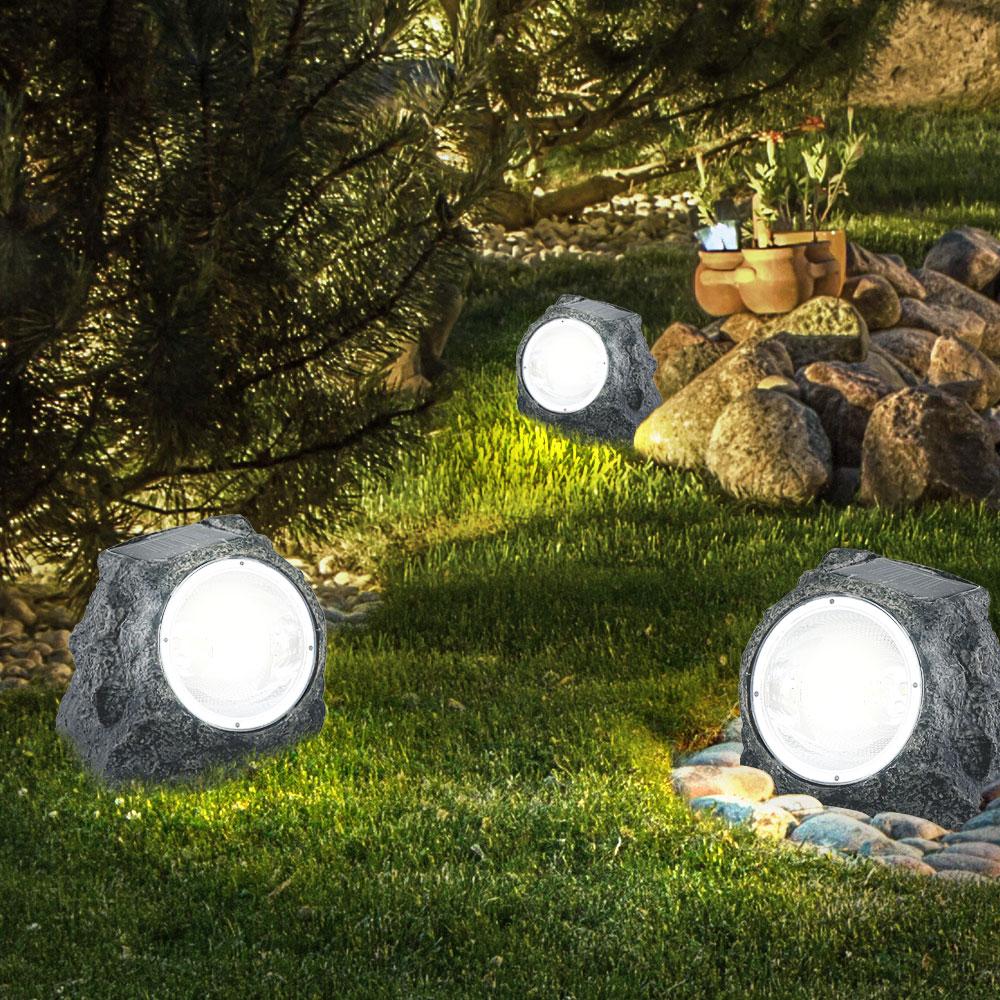 Solar-Gartenstrahler mit strahlendem Licht 10er Set – Bild 5
