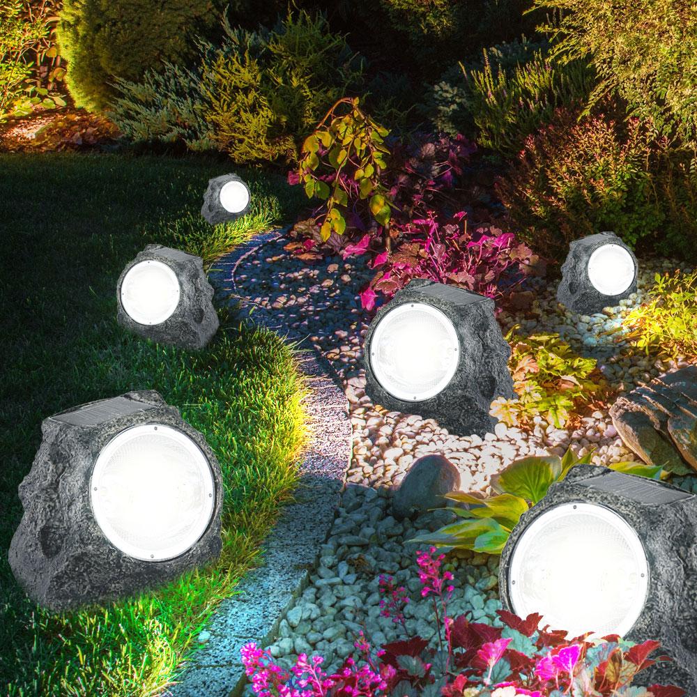 Solar-Gartenstrahler mit strahlendem Licht 10er Set – Bild 4
