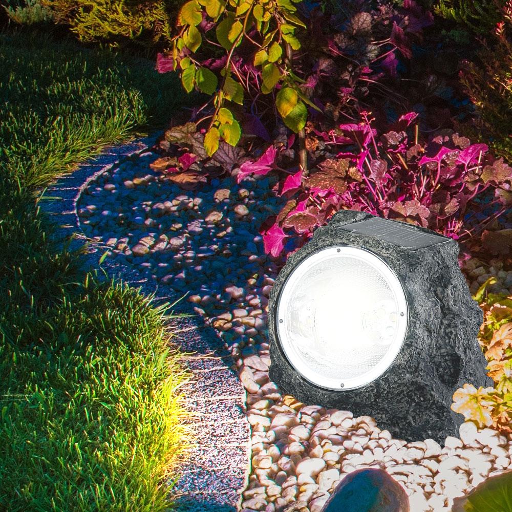 Solar-Gartenstrahler mit strahlendem Licht 10er Set – Bild 3