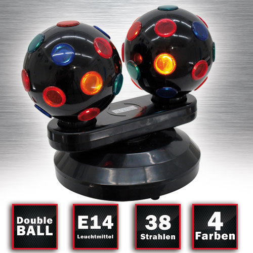 Beam Effect Mini Double Ball Lamp Light Effects  Eurolite 51812234 – Bild 2
