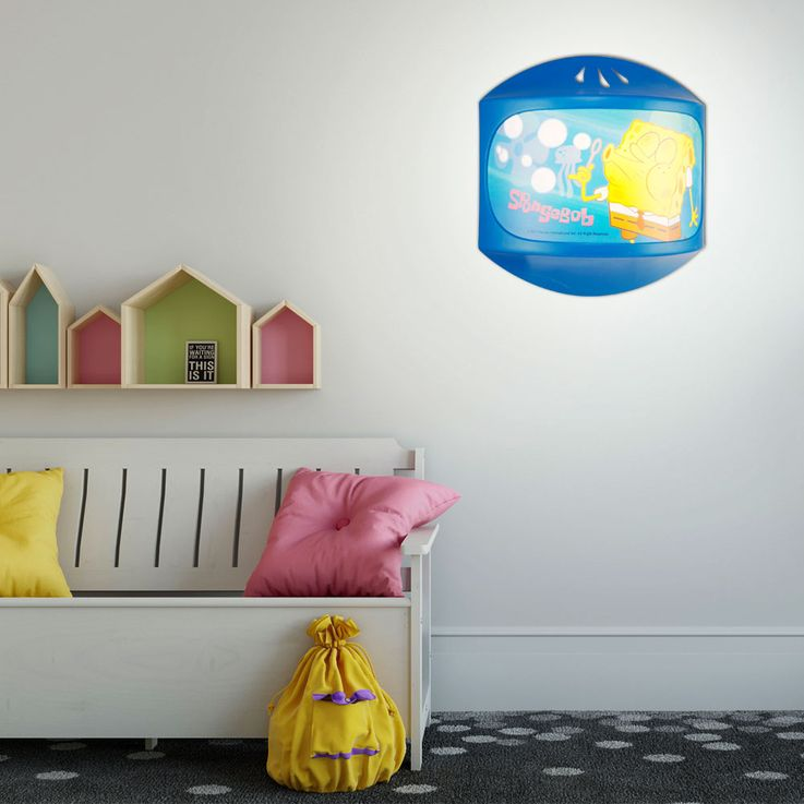 Kids room wall light sponge Bob light sleep lighting girl boy Globo 662341 – Bild 3
