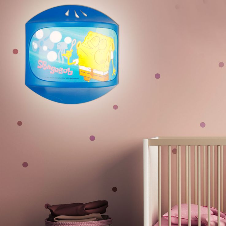 Kids room wall light sponge Bob light sleep lighting girl boy Globo 662341 – Bild 2