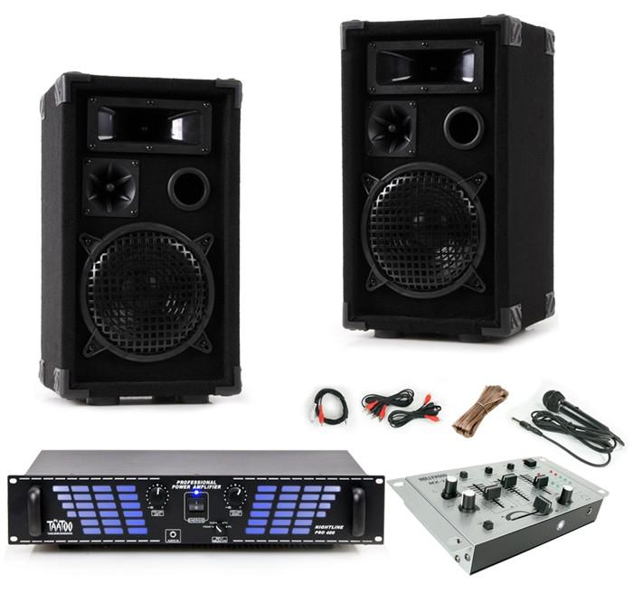 2400W PA Partyanlage Boxen Lautsprecher Endstufe Verstärker Mixer Mischpult DJ-477 – Bild 1