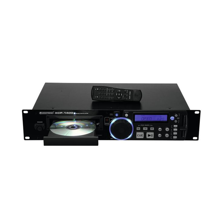 DJ PA Rack CD Player Musik Spieler Fernbedienung Equipment OMNITRONIC XCP-1400 – Bild 4