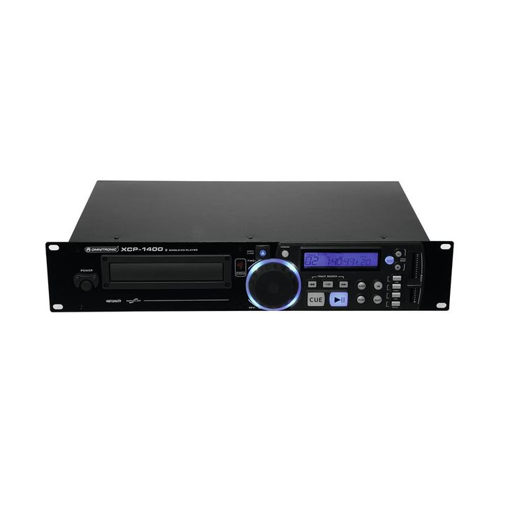 DJ PA Rack CD Player Musik Spieler Fernbedienung Equipment OMNITRONIC XCP-1400 – Bild 5
