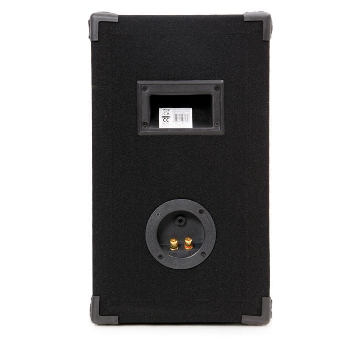 Karaoke Musikanlage Boxen Bluetooth Verstärker silber USB SD MP3 Funkmikrofon DJ-488 – Bild 3