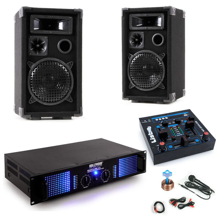 PA party music system boxes 2400W amp amplifier usb mp3 mixer DJ-631 – Bild 1