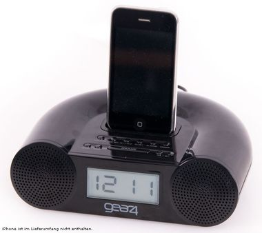 Clock radio with iPod docking station Tuner Stereo LCD display Gear 4 CRG-60 – Bild 2