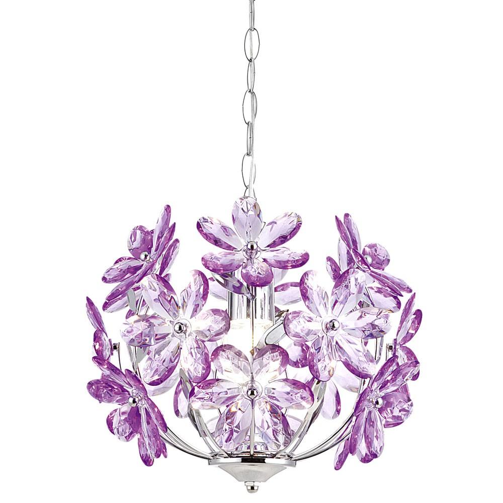 Design Pendelleuchte im floralen Design PURPLE – Bild 8