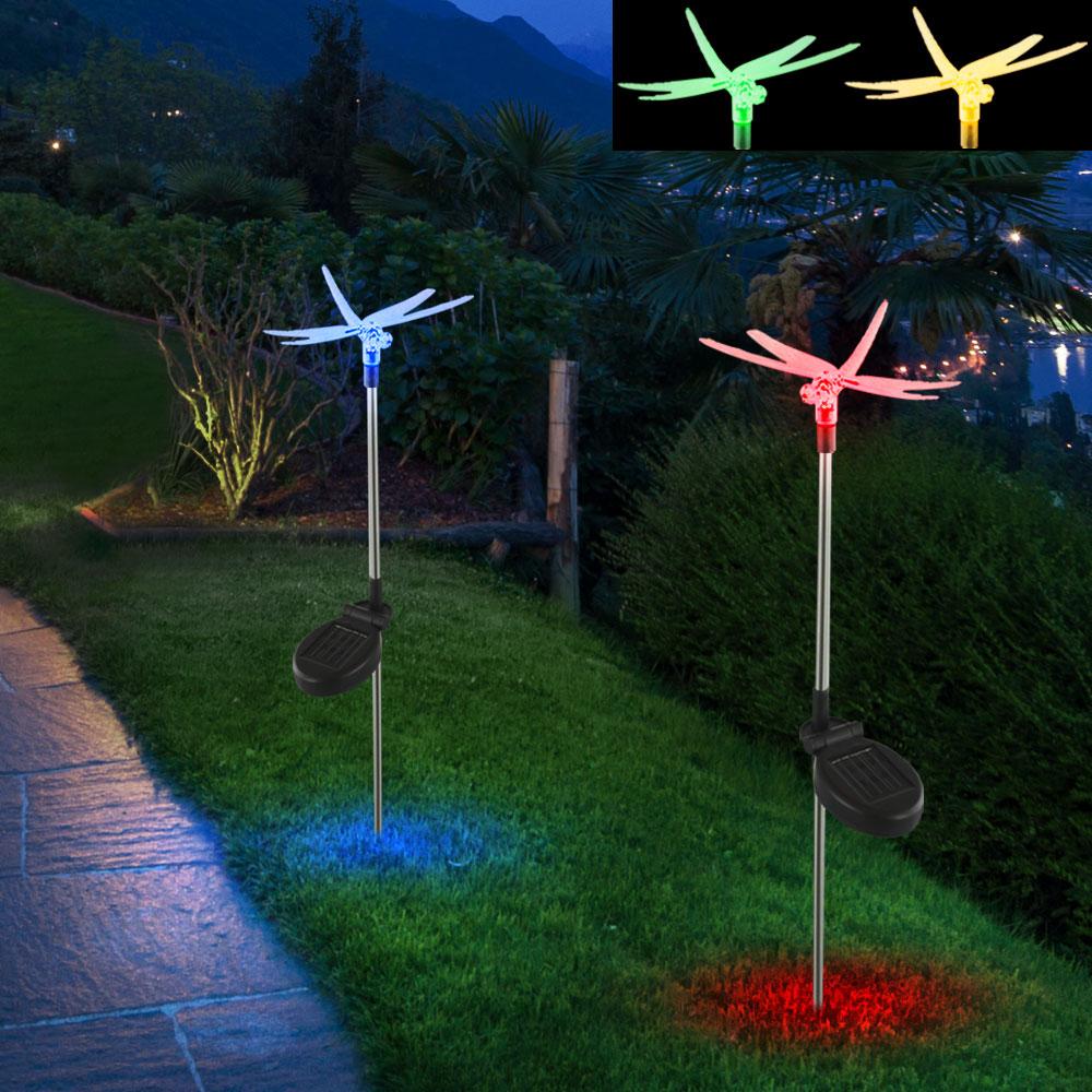 Solarleuchten Set mit drei Leuhten mit LEDs - Libelle – Bild 3