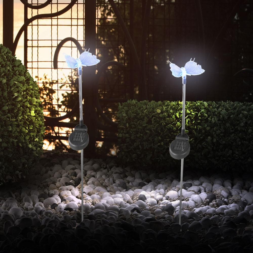 Solarleuchten mit Farbwechsler LED - Schmetterling – Bild 9