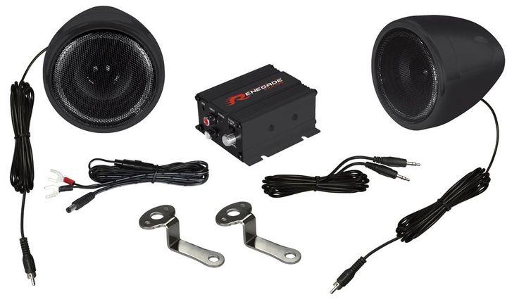 Motorrad Roller Musikanlage System Bke Soundsystem Renegade RXA100B Black Finish – Bild 1