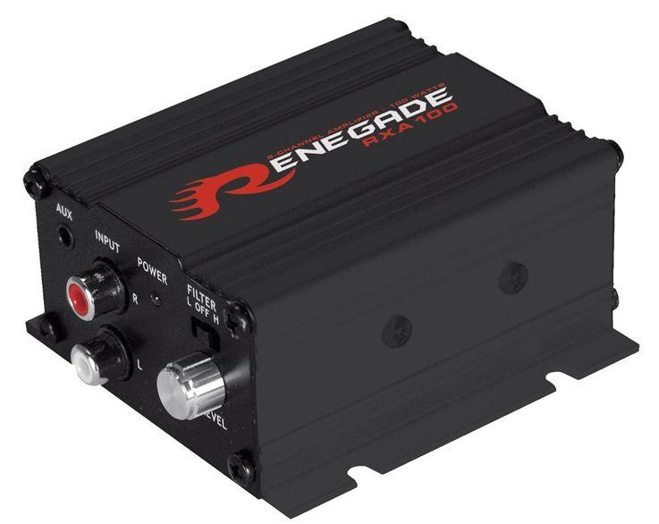 Motorrad Roller Musikanlage System Bke Soundsystem Renegade RXA100B Black Finish – Bild 2