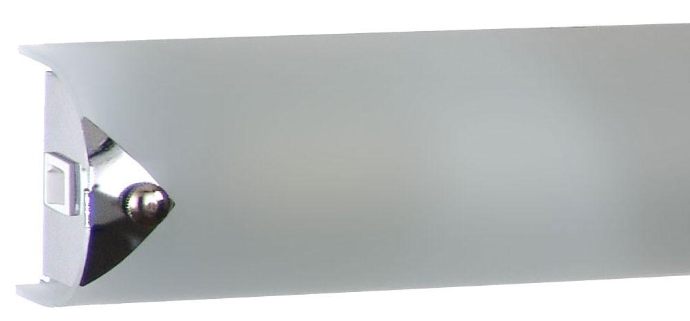 Wandleuchte aus Chrom und Glas, Länge 35 cm, ORION L350 – Bild 7