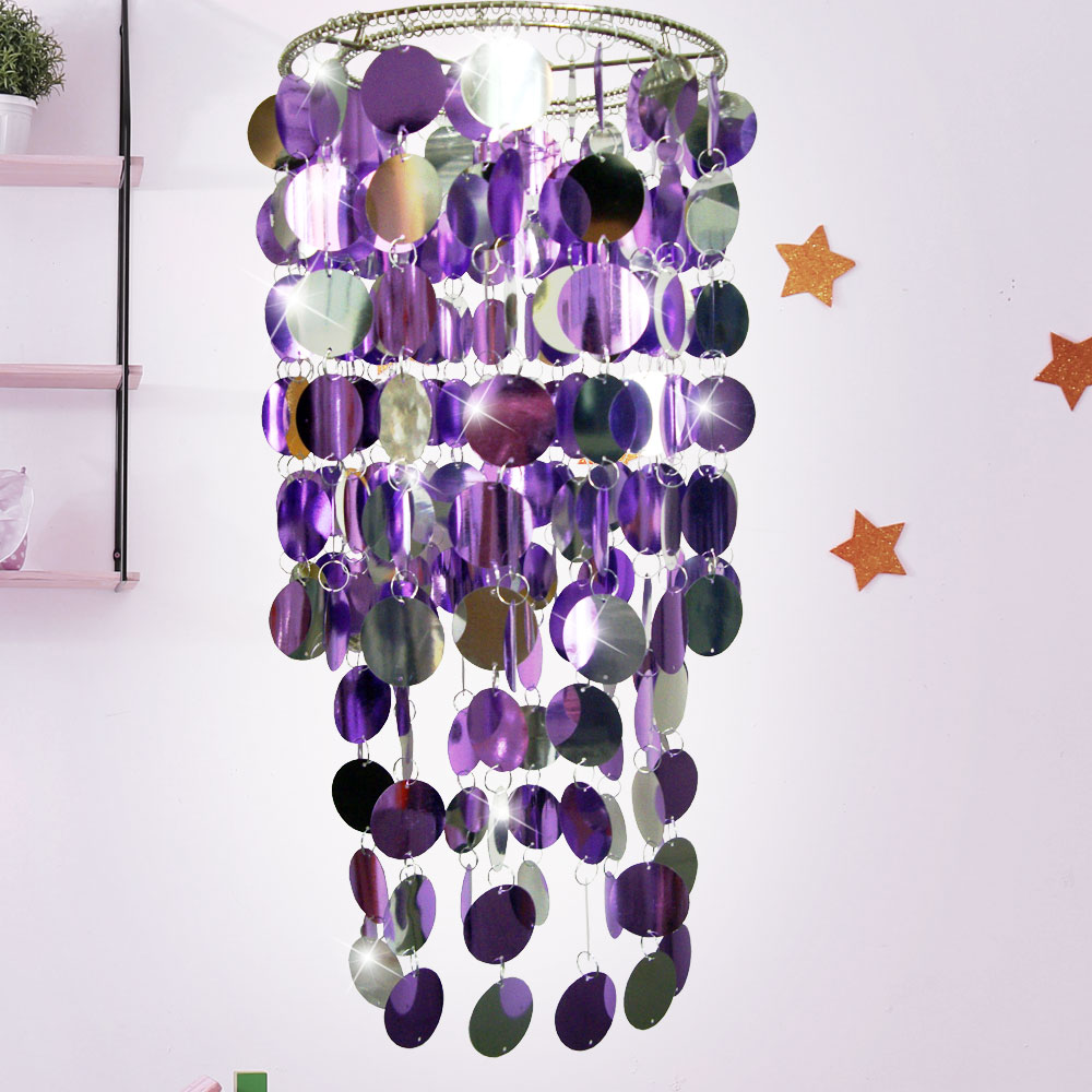 Fantasia Lampenschirm Silber/ Lila Chrom glänzend ESTO – Bild 4