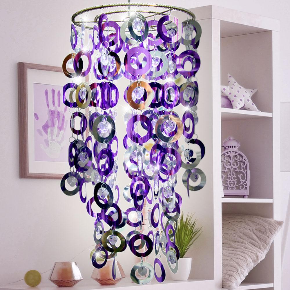 Fantasia Lampenschirm Kunststoffringe glänzend Leuchte ESTO – Bild 2