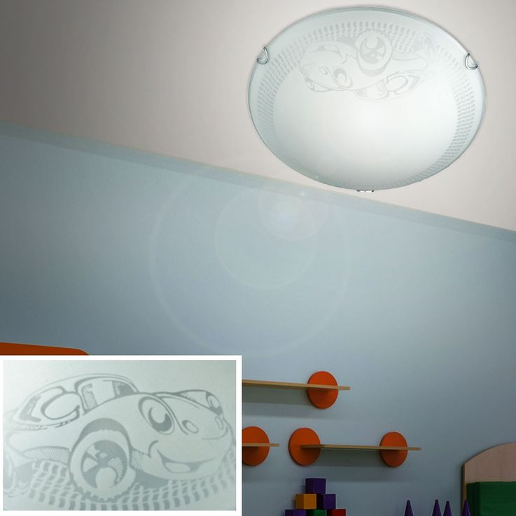 Children game room lights ceiling lights glass satin round car lamp light ESTO 50053 – Bild 4