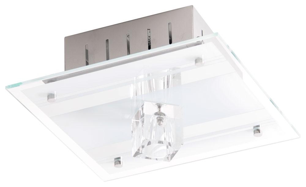 Deckenleuchte aus Spiegelglas und Metall mit Halogen-Leuchte