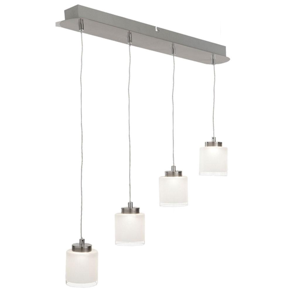 LED Pendelleuchte aus gebürstetem Stahl CIRRIS