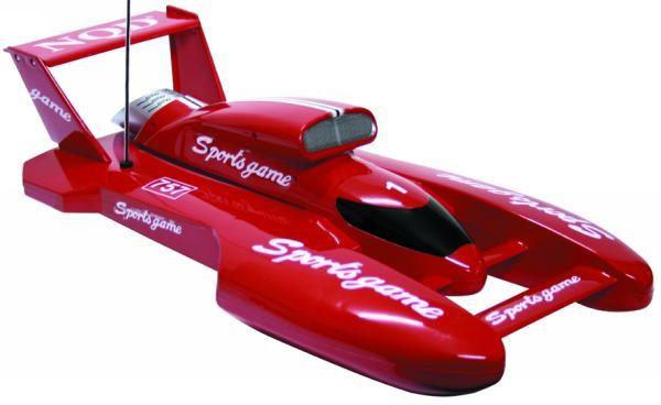 RC-Rennkatamaran 1:16, 74cm, rot RC Speedboat – Bild 1