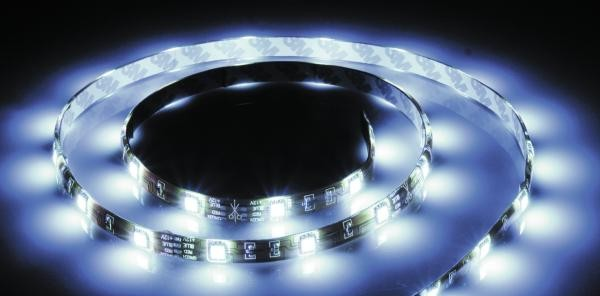 LED-Leiste 10 m lang selbstklebend in weißem Silikon