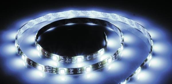 LED-Leiste 10 m lang selbstklebend in weißem Silikon – Bild 1