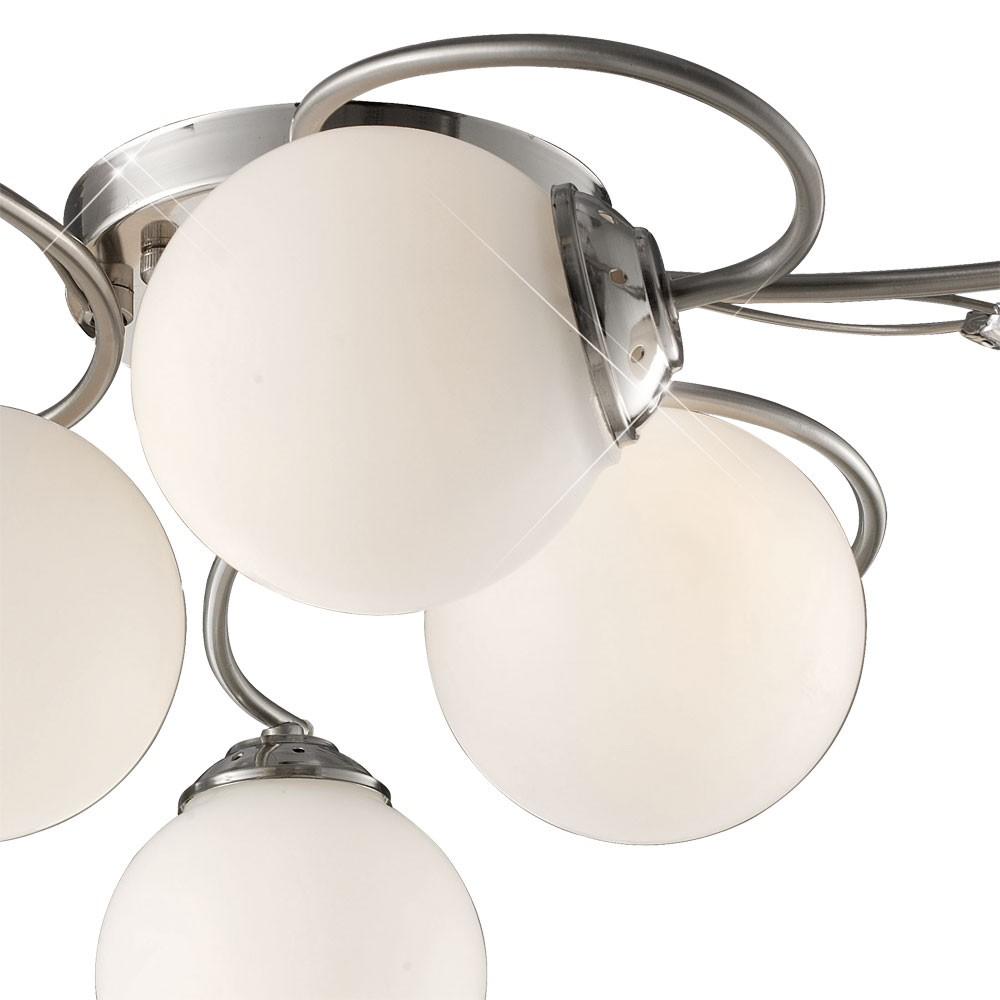 Deckenleuchte in mattem Chrom mit 6 Leuchtkugeln – Bild 8