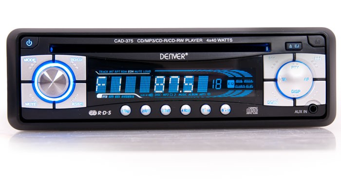 Auto radio lecteur laser AUX MP3 protection anti-vol car hi-fi Denver CAD-375 – Bild 2