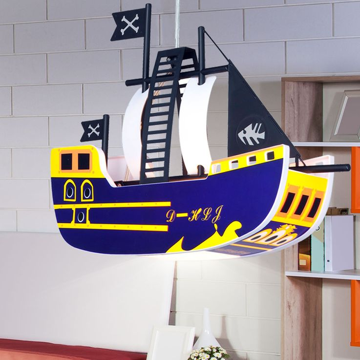 Children pendant ceiling light lamp light kids pirate ship Globo KITA 15723 – Bild 2