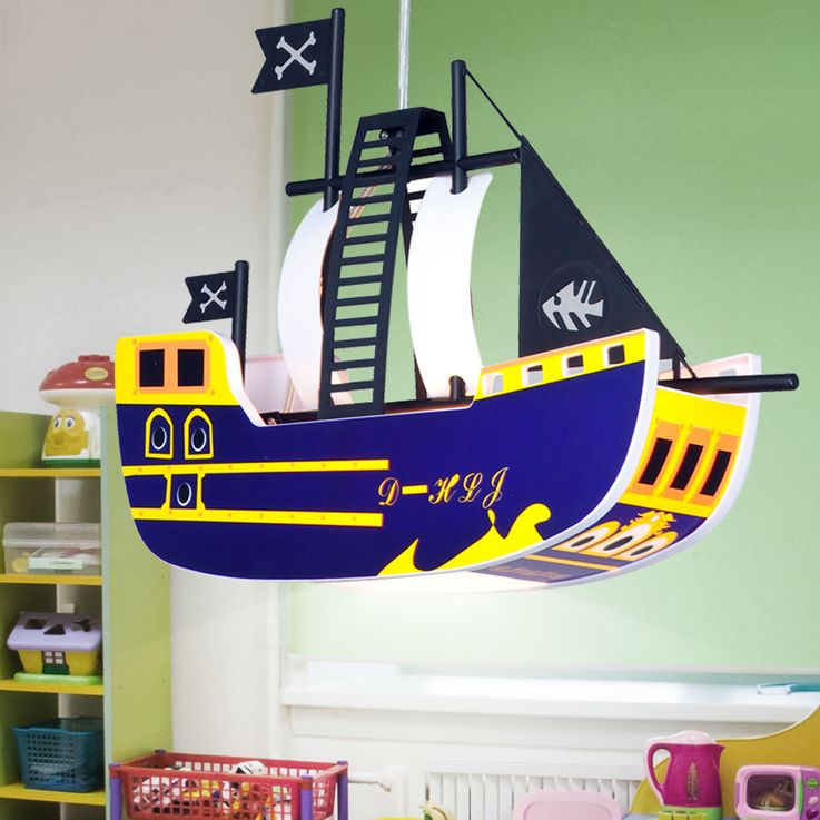 Children pendant ceiling light lamp light kids pirate ship Globo KITA 15723 – Bild 3