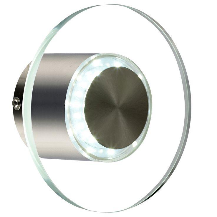 LED Wandlampe mit Glasschirm, Durchmesser 15,7 cm, DANA