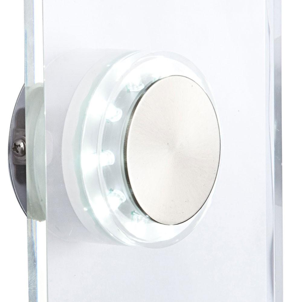 LED Edelstahl Wandlampe mit Glasschirm, Höhe 15 cm, DANA – Bild 5