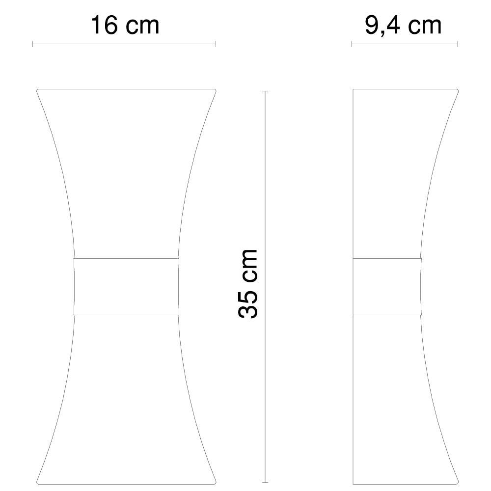 Up & Down Strahler, Höhe 35 cm, Edelstahl poliert Santana – Bild 8