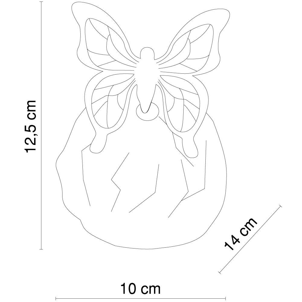 Solar Außenleuchte mit LED-Farbwechsler Stein mit Schmetterling – Bild 9