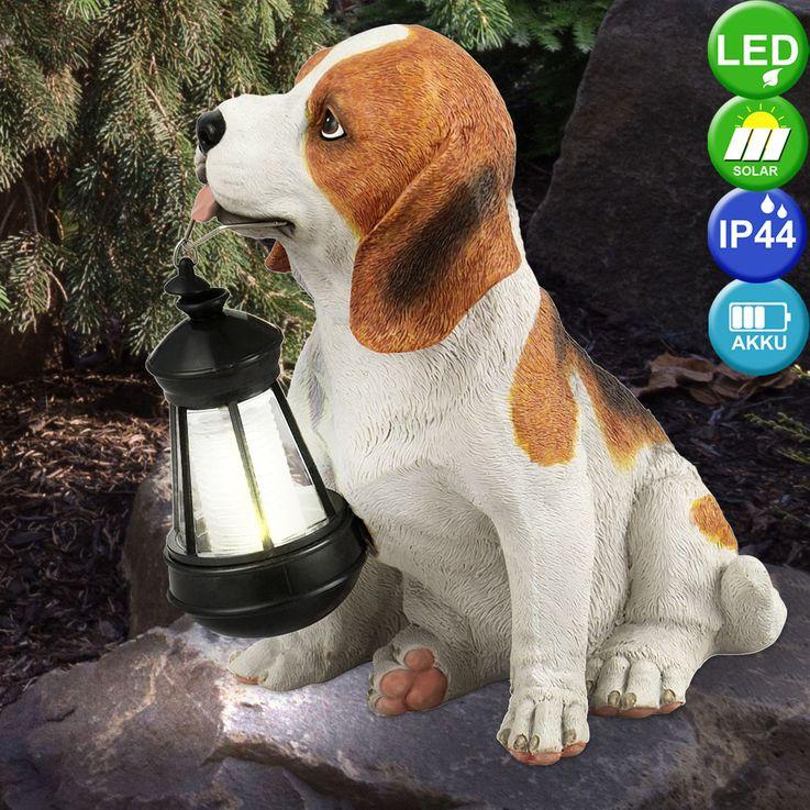 LED Solar Skulpturleuchte Aussenleuchte Hund Gartenlampe Hundelampe Leuchte Globo 33371 – Bild 2