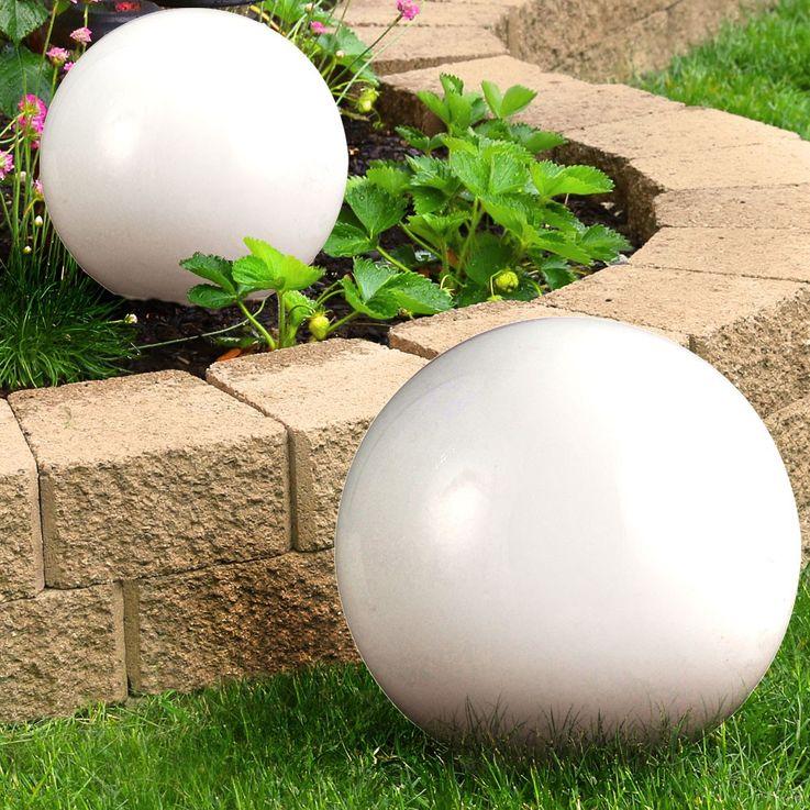 Lampe solaire à LED prise extérieure lampe terre cracher jardin stand boule projecteur blanc  Globo 3378 – Bild 12