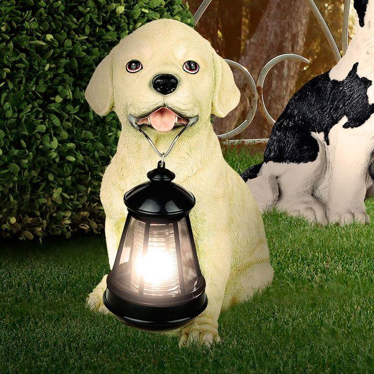 Solar LED Aussenleuchte Hund Skulptur Gartenlampe Hundelampe Leuchte Globo 33372 – Bild 3