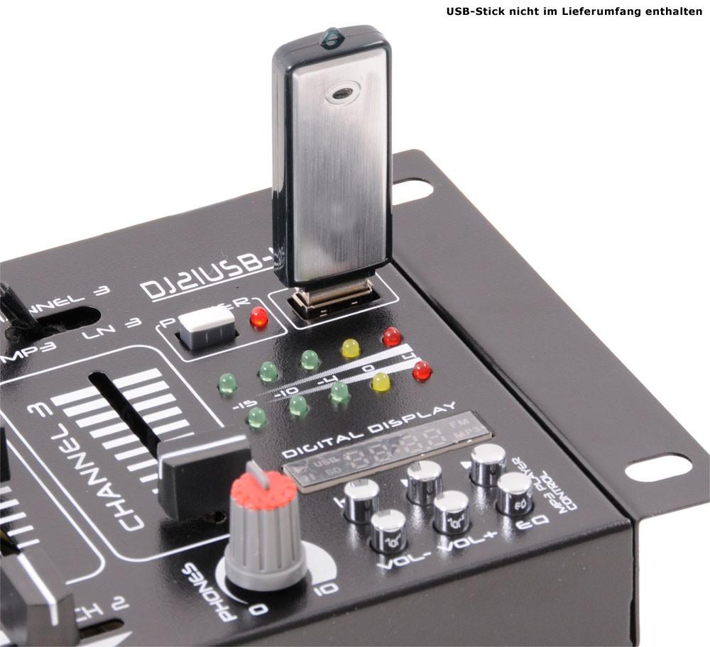 DJ PA Stereo Mischpult USB MP3 Party Kompakt MX36-D – Bild 5