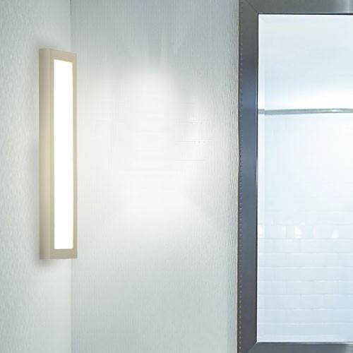 Einbau Wand Lampe silber Alu Spiegel Beleuchtung Badezimmer Leuchte eckig Globo 49414 – Bild 3