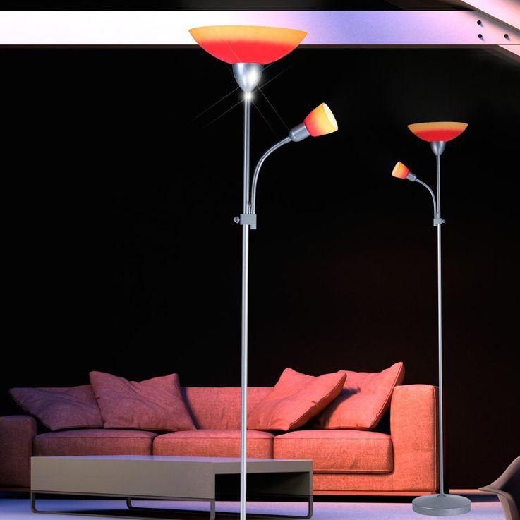 Lampadaire luminaire plafond bras de lecture flexible éclairage salle de séjour Globo 58466 – Bild 6