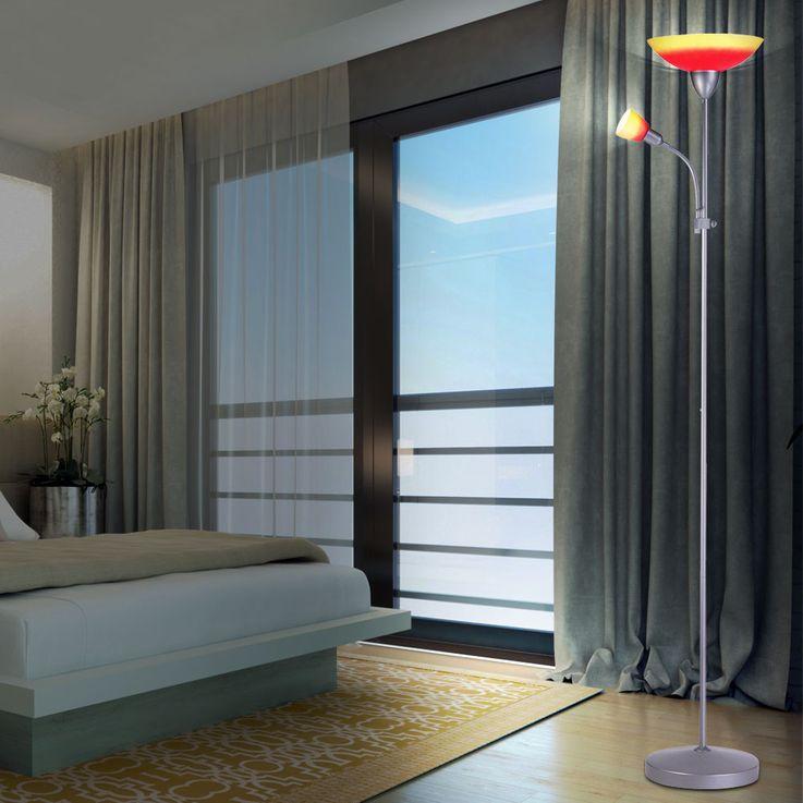 Steh Decken Fluter Stand Leuchte Lampe beweglicher Arm Lese Licht Globo 58466 – Bild 3