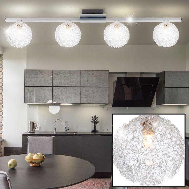 Decken Leuchte Beleuchtung Kugel Alu Lampe rund G4 Licht Strahler Globo 5662-4 – Bild 2