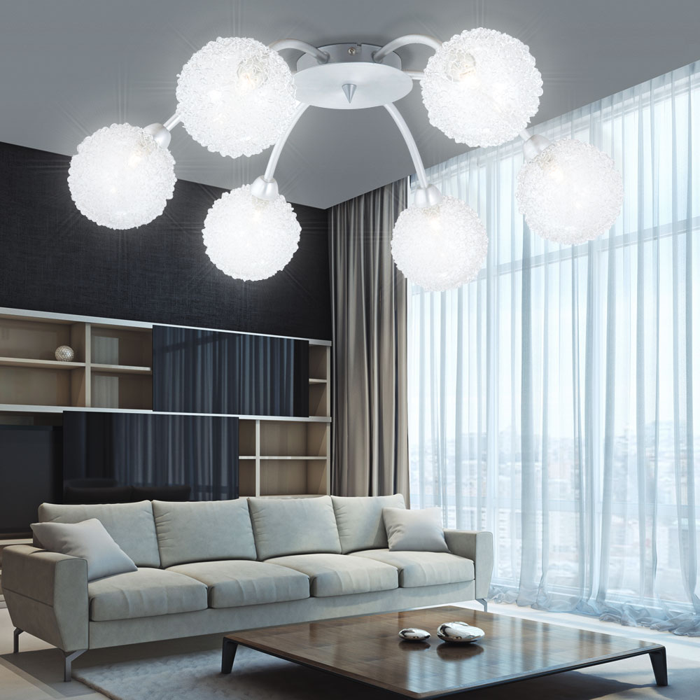 elegante illuminazione lampada da soffitto salotto camera letto di ebay. Black Bedroom Furniture Sets. Home Design Ideas