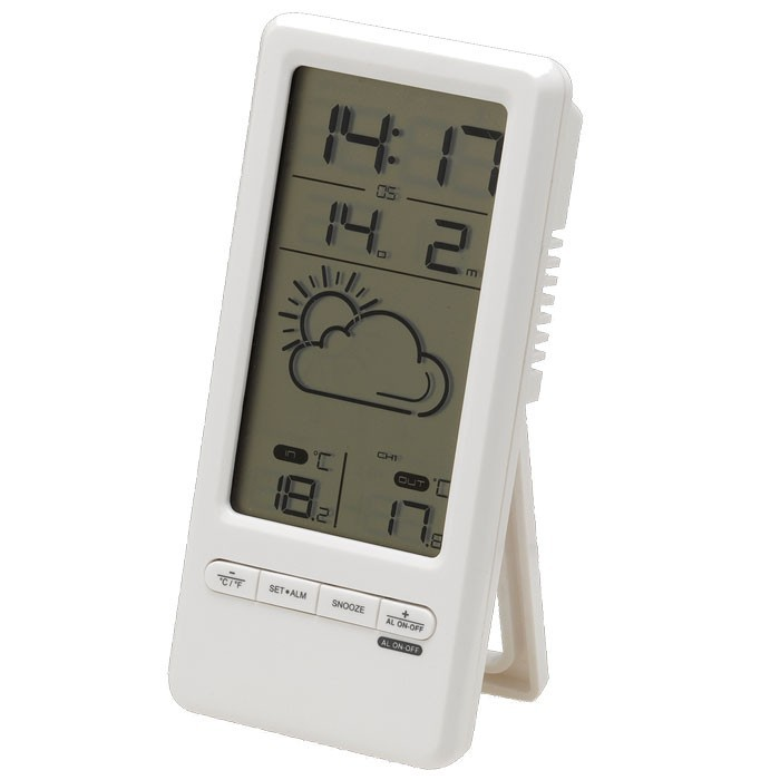 Kabellose Wetterstation LCD-Display Celsius Fahrenheit Thermometer kabellos DENVER TRC-1480 – Bild 1