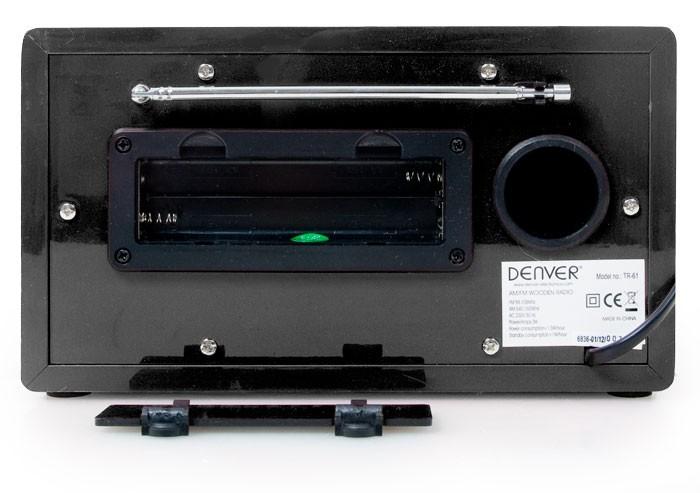Radio design piles AUX antenne FM AM tuner alimentation secteur MP3 Denver TR-61 noir – Bild 5